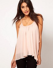 ASOS Cami With Drape Sides And Skinny Straps