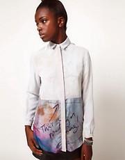 Lulu and Co Barry Regiate Chiffon Layered Shirt