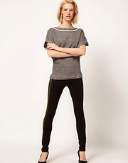 Baum Und Pferdgarten Legging with Contrast Striped Panel