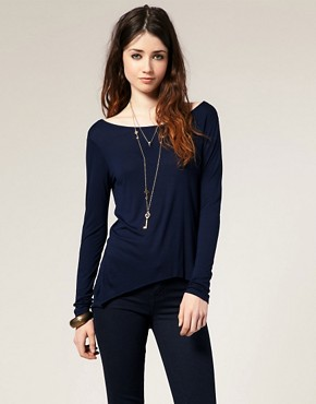 Image 1 of ASOS Basic Dipped Hem Top