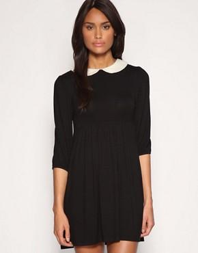 Image 1 ofASOS Peterpan Collar Jersey Dress