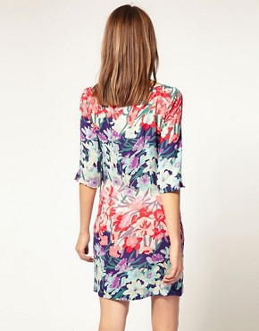 Image 2 of Warehouse Dip Dye Floral Shift