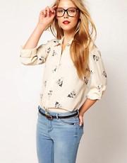 ASOS Shirt With Owl Print