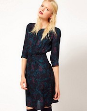 Sessun Printed Silk Dress in Winter Floral