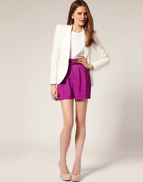 Image 1 of ASOS Double Belt Pleat Front Shorts