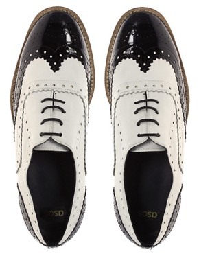 Image 3 of ASOS MARKY Mono Leather Lace Up Brogue