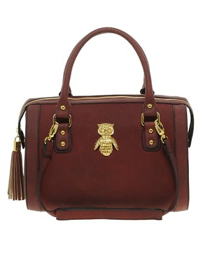 Image 1 of ASOS Owl Tassel Bowler Bag