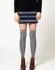 Gipsy Front Cable Over the Knee Socks