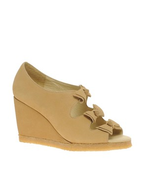 Image 1 of F-Troupe Bow Wedge Sandals