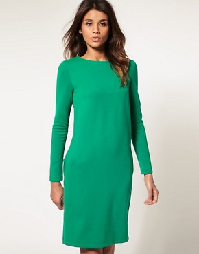 Image 1 ofASOS Button Back Dress With Long Sleeves