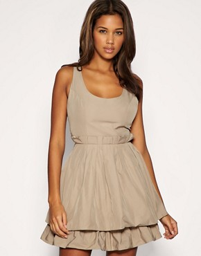 Image 1 of ASOS Taffeta Box Pleat Dress