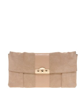 Image 1 of ASOS Leather Panelled Clutch