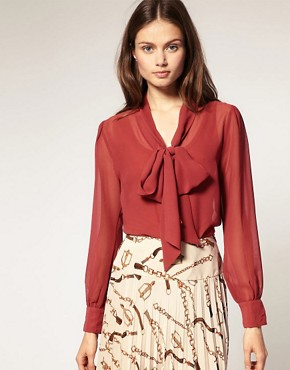 Image 1 of ASOS Georgette Pussybow Blouse