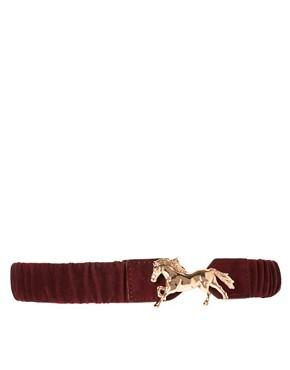 Image 1 ofASOS Elastic Horse Buckle Waist Belt