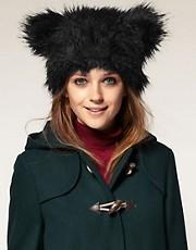 ASOS Faux Fur Bear Ears Hat