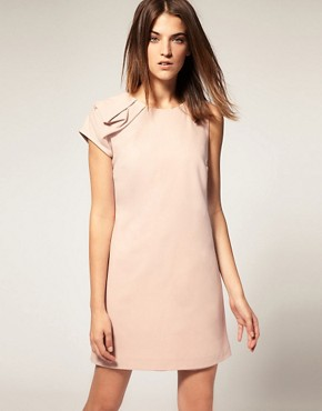 Image 1 of Warehouse Shoulder Detail Shift Dress
