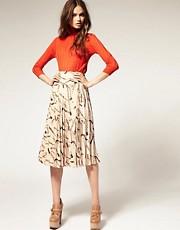 ASOS Midi Skirt with Equestrian Print
