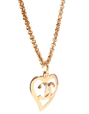 Image 4 ofSusan Caplan Vintage Chanel '80s Heart Necklace