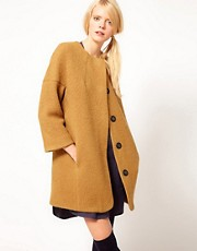 YMC Grace Collarless Coat