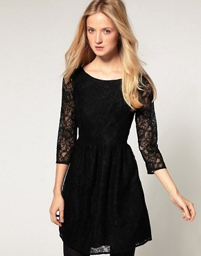 Image 1 ofFrench Connection Lace Mini Dress