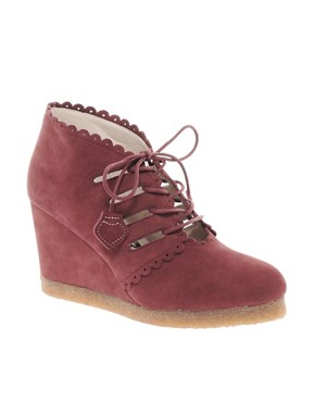 Image 1 of F-Troupe Wedge Lace Up Ankle Boots