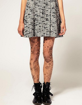 Image 1 of ASOS Tattoo Tights