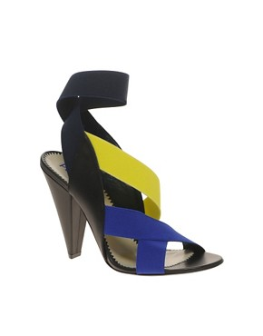 Image 1 of Pollini Elastic Strapped Heeled Sandals