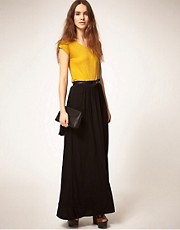 Warehouse Column Maxi Skirt