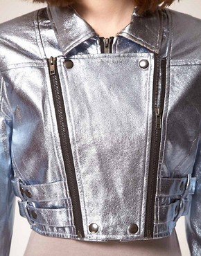 Image 3 of stylestalker Heavy Metallic Jacket