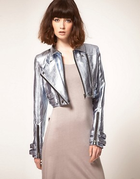 Image 1 of stylestalker Heavy Metallic Jacket