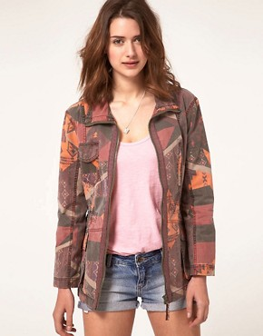 Image 1 of River Island Aztec Military Jacket