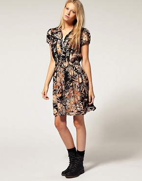 Image 4 of Minkpink  Folklore  Printed Crochet Insert Dress