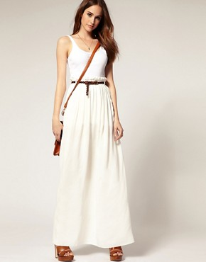 Image 1 of River Island Paperbag Waist Maxi Skirt