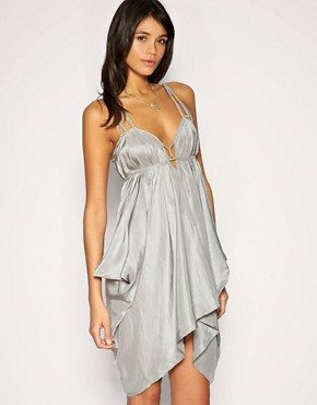 Image 1 of ASOS Spaghetti Strap Silk Dress