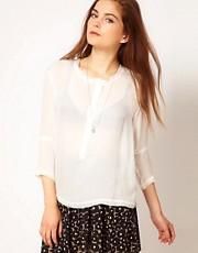 American Vintage Silk Oversized Shirt