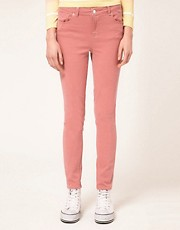 Warehouse Washed Rose Skinny Jean