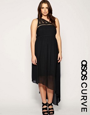 Image 1 of ASOS CURVE Beaded Cage Maxi Dress
