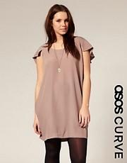 ASOS CURVE Cape Back Shift Dress