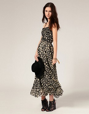 Image 1 ofWinter Kate Maxi Dress in Floral Print with Beaded Bodice