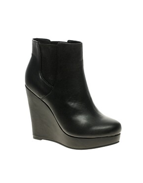 ASOS ALIVE Chelsea Wedge Ankle Boots