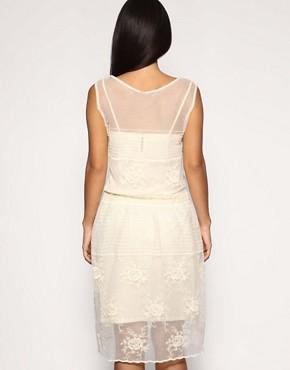 Image 2 ofMango Lace Drop Waist Strappy Dress