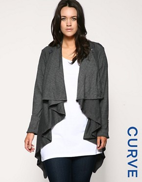 Image 1 of ASOS CURVE Exclusive Wrap Front Shrug