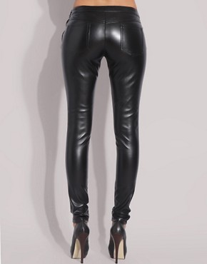 Image 2 of ASOS Faux Leather Leggings