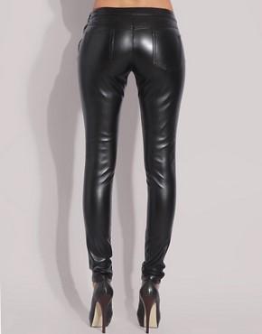 Image 2 ofASOS Faux Leather Leggings