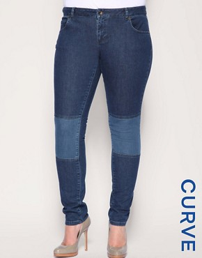 Image 1 of ASOS CURVE Panel Skinny Jeans