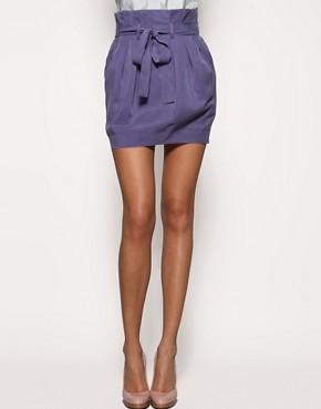 Image 4 ofASOS Paper Bag Waist Skirt