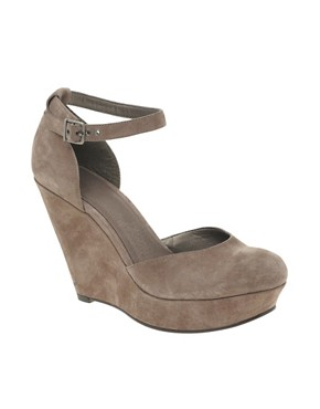 Image 1 of ASOS HOTFOOT Leather Ankle Strap Wedges