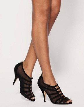 Image 3 of ASOS SCANDAL Suede and Mesh Zip Back High Shoes