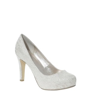 Image 2 of ASOS PEACHES Lace Platform Shoe