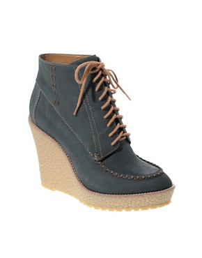 Image 1 of ASOS TOTALLY Suede Premium Crepe Lace Up Boots
